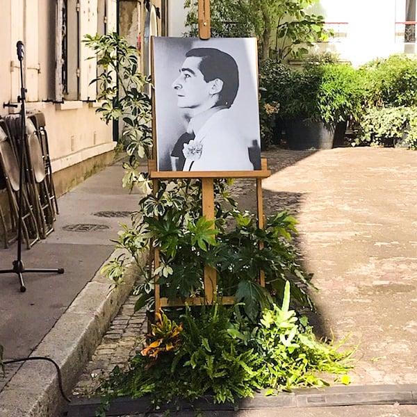 Plaque commémorative Copi