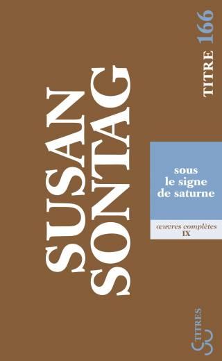 Sontag - Sous le signe de Saturne